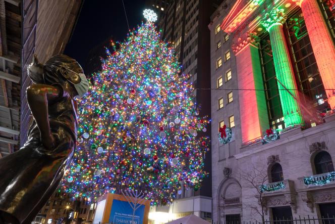 Devant la Bourse de New York, le 6 décembre.