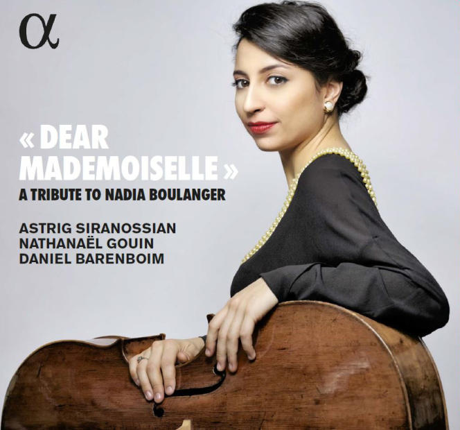 Pochette de l'album «Dear Mademoiselle – A Tribute to Nadia Boulanger», d'Astrig Siranossian.