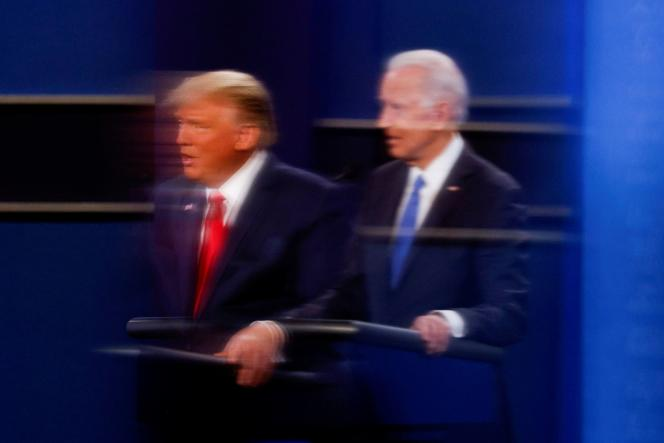 Donald Trump et Joe Biden, le 22octobre 2020, à l'occasion du deuxième débat télévisé.