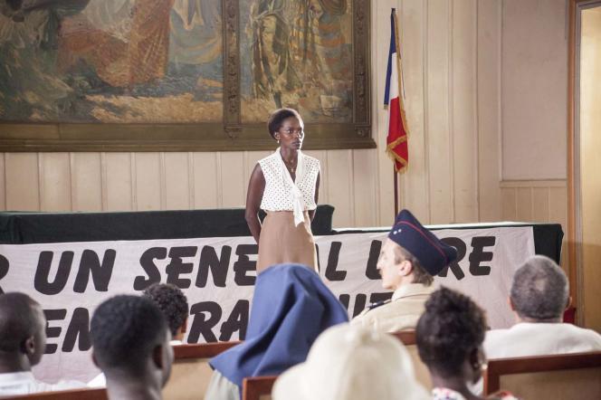 Marême NDiaye dans la série « Black and White », deJacques Kirsner.