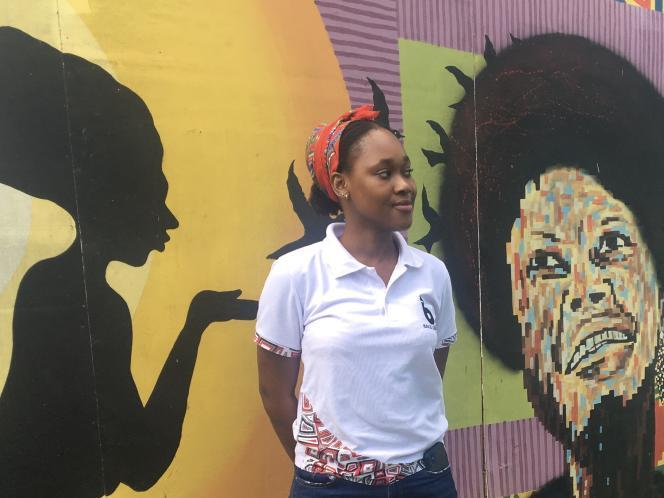 L'entrepreneuse et ingénieure informatique Charlette N'Guessan dans les locaux de l'incubateur MEST, à Accra, le 4 décembre 2020.