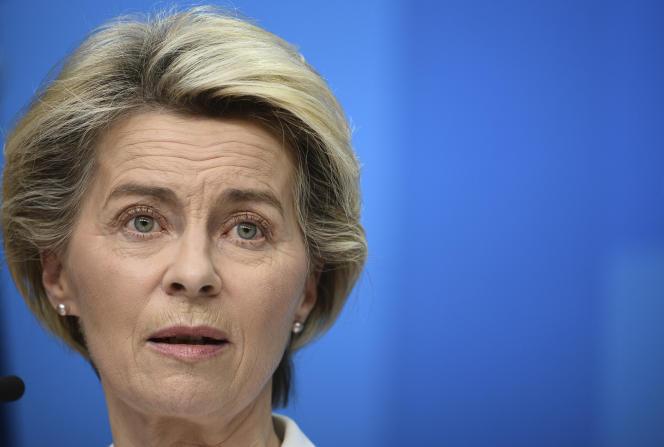 La présidente de la Commission européenne, Ursula von der Leyen, le 11 décembre à Bruxelles.