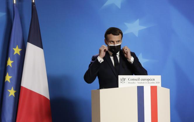 « Noël est entre nos mains », a dit le président français lors d'une conférence de presse à l'issue du sommet européen, à Bruxelles, le 11décembre.