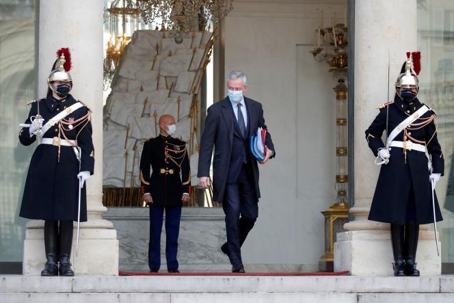 Le ministre de l'économie, Bruno Le Maire, au palais de l'Elysée à Paris, le 9 décembre.
