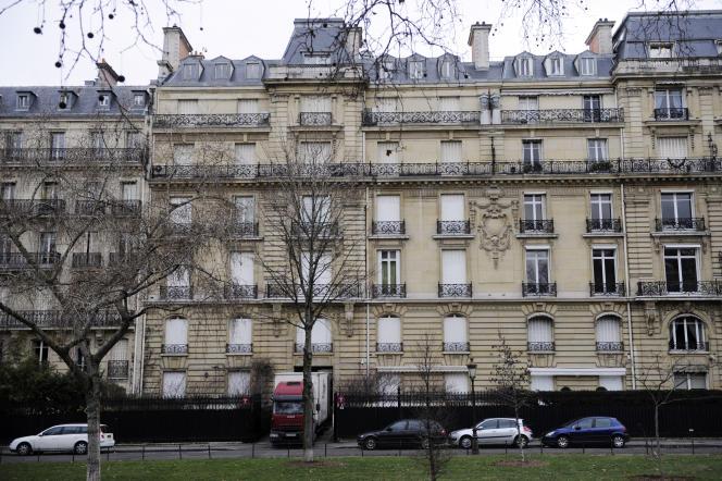 L'ancienne résidence de Teodorin Obiang, avenue Foch à Paris, en février 2012.