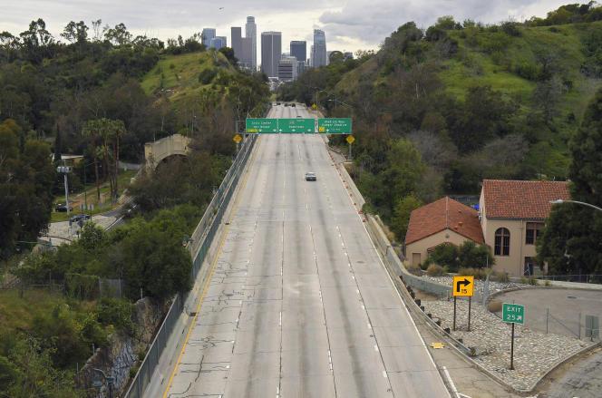 La ville de Los Angeles (Californie) lors des mesures de confinement, en mars 2020.