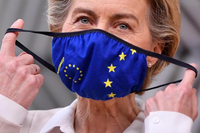 La présidente de la Commission européenne, Ursula von der Leyen, à Bruxelles, le 10décembre.
