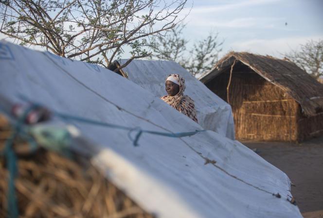 Dans le camp du 25-Juin, qui abrite 16000déplacés dans la province de Cabo Delgado, au Mozambique, le 9décembre 2020.