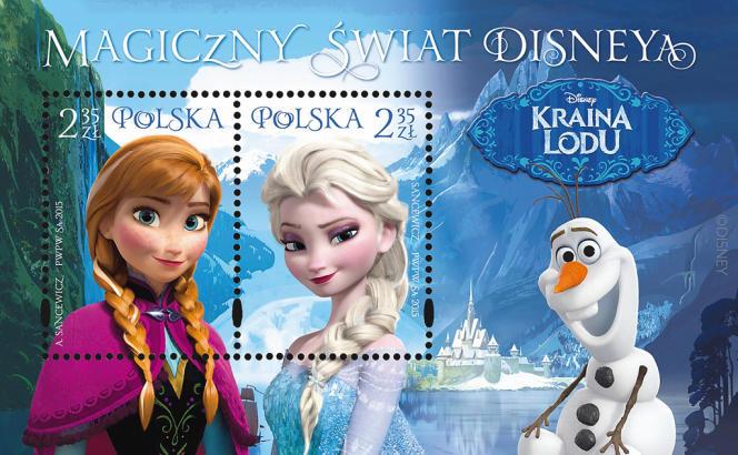 La Reine des Neiges, vue par la poste de Pologne (2015).
