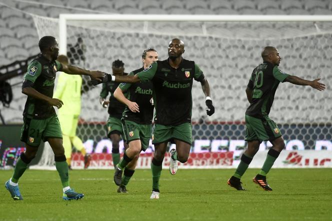 Seko Fofana et ses partenaires lensois se sont inclinés à domicile contre Montpellier (2-3), samedi 12 décembre.