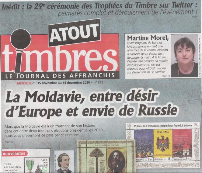 « Atout timbres », 32 pages, 2,50 euros (avec son timbre cadeau, ce mois-ci un bloc-feuillet de l'Union des Comores de 2011 sur les paons (Pavo cristatus), en vente en kiosques ou par abonnement auprès de l'éditeur Yvert et Tellier.