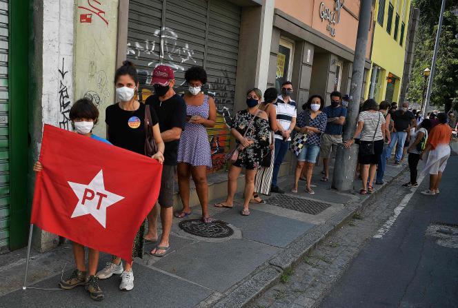 Lors des municipales à Rio de Janeiro, le 15 décembre 2020.