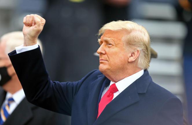 Donald Trump à West Point, à New York, samedi 12 décembre.