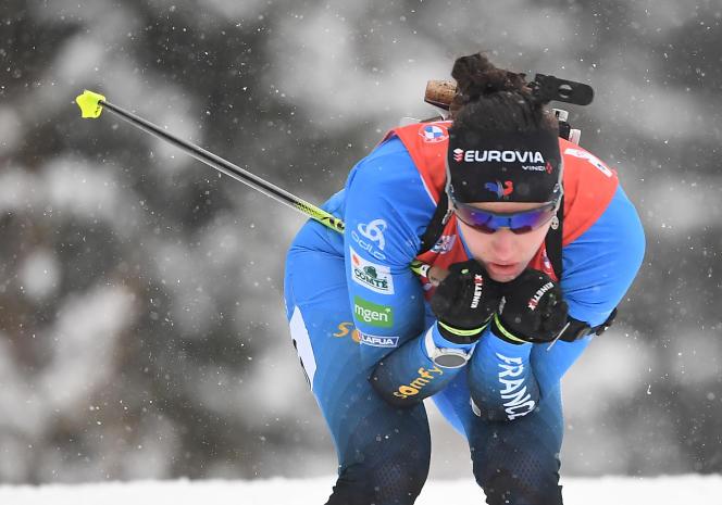 Julia Simon lors de la poursuite de Hochfilzen, dimanche 13 décembre.