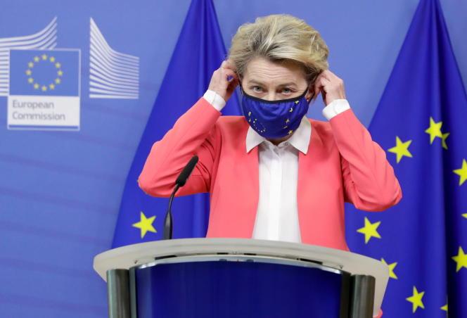 La présidente de la Commission européenne, Ursula von der Leyen, dimanche 13décembre.