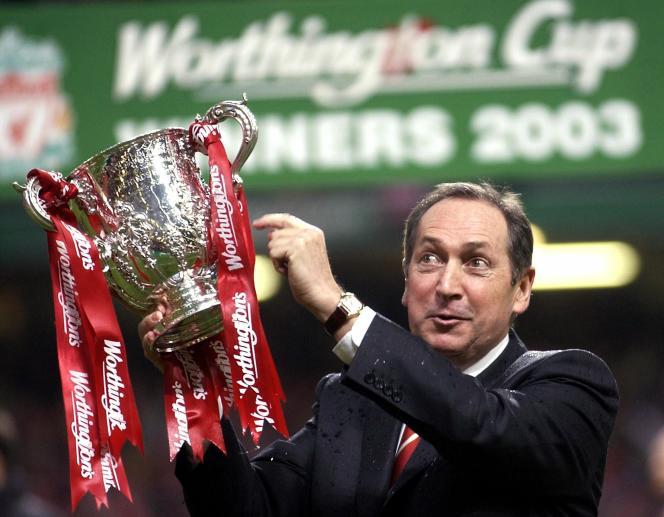 Gérard Houllier, alors entraîneur de Liverpool, en mars 2003.