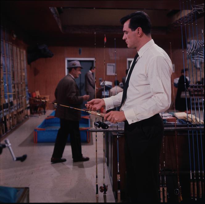 Rock Hudson (Roger Willoughby) dans«Le Sport favori de l'homme» (1962), d'Howard Hawks.