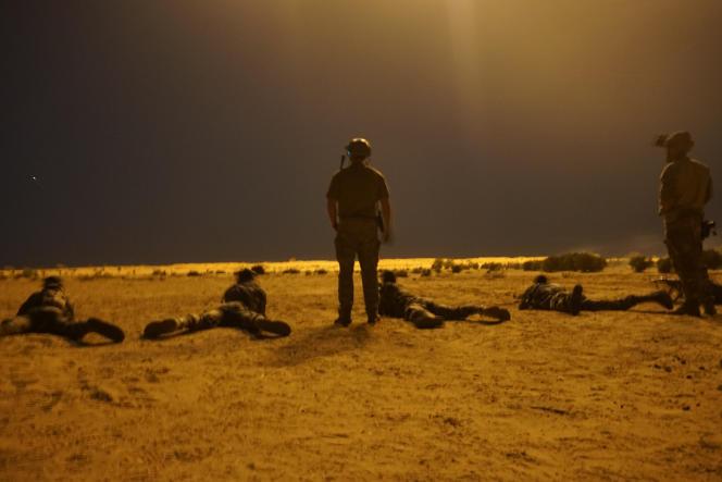 Entraînement de soldats nigériens par des membres des forces spéciales de l'armée américaine à Diffa, en mars 2017.