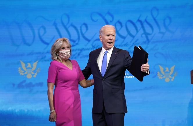 Joe Biden et sa femme, Jill, au Queen Theater à Wilmington, dans le Delaware, le 14décembre.