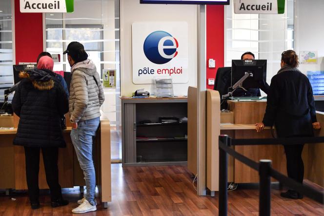 Agence Pole Emploi, à Montpellier, en 2019.