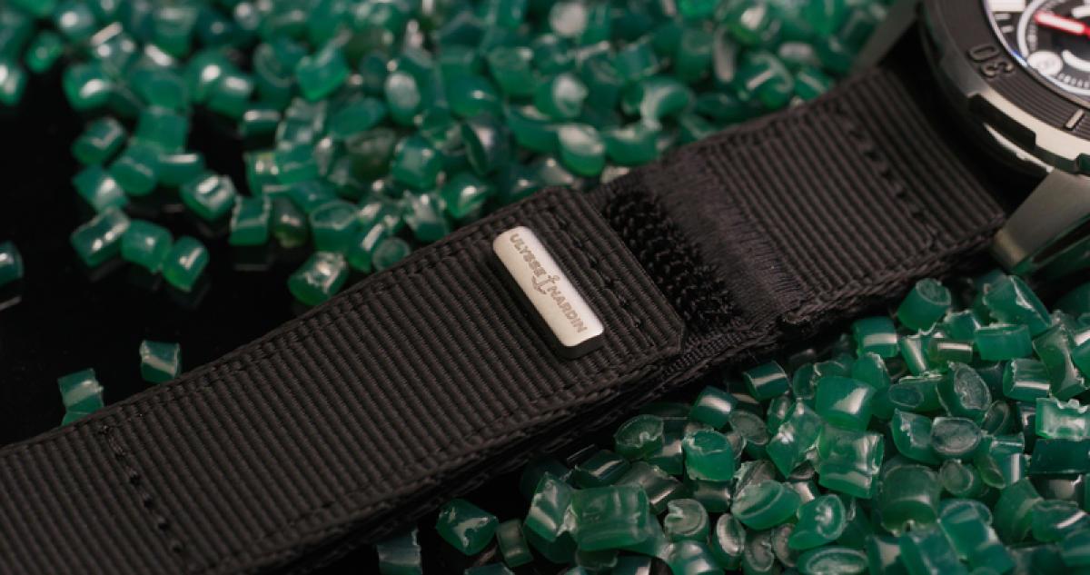 Le bracelet en filets de pêche recyclés d'Ulysse Nardin.
