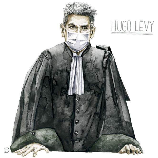 Hugo Levy, avocat de Willy Prevost à la cour spéciales d'assises de Paris, le 14 décembre 2020.