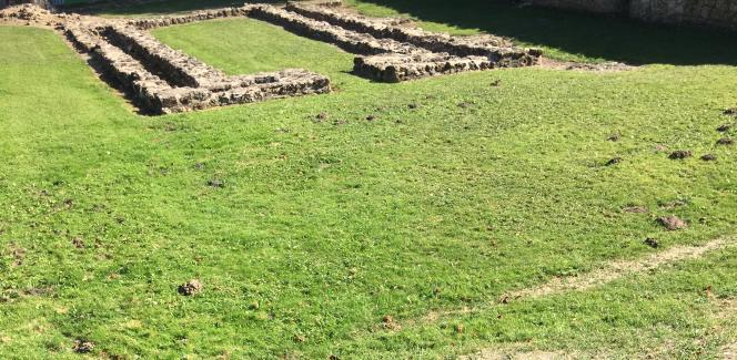 Ruines de l'église de l'abbaye de Port-Royal.