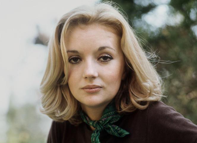 Portrait de l'actrice Caroline Cellier, pris en mai 1970 à Paris.