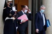 Le premier ministre, Jean Castex, et le ministre de l'économie,Bruno Le Maire, à l'Elysée, le 16 décembre 2020.