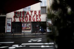 Le Théâtre Saint-Georges fermé dans le 9e arrondissement parisien, le 11 décembre 2020.