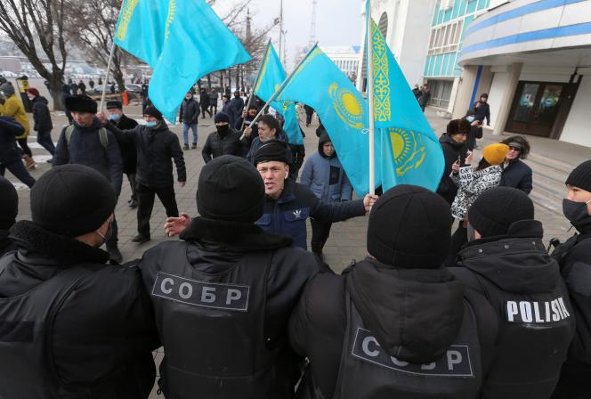 Manifestation de l'opposition à l'occasion de la Journée de l'indépendance, le 16 décembre 2020 à Astana.