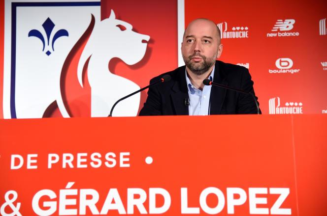 Gérard Lopez, 13 janvier 2017 à Lille.