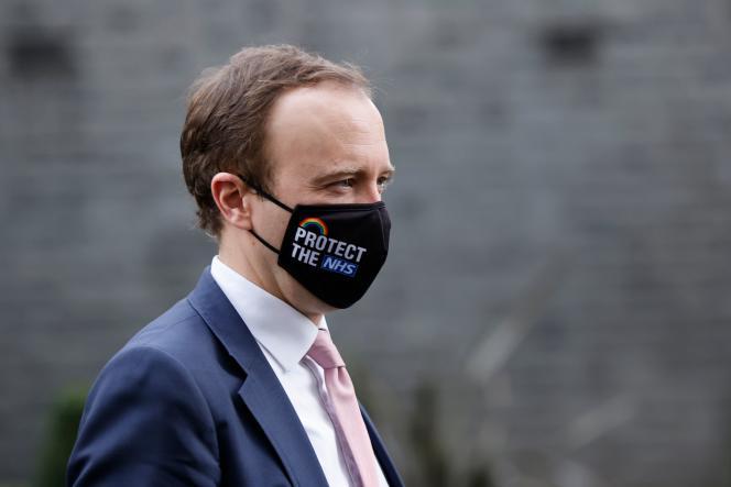 Le ministre de la santé britannique, Matt Hancock, à Londres, le 16 décembre 2020.