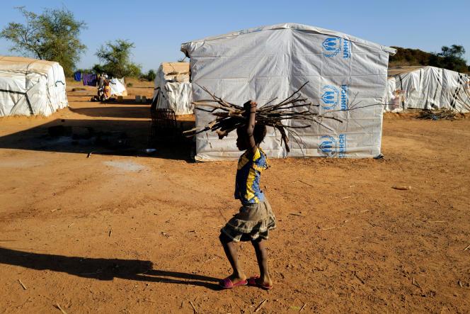 Dans un camp de déplacés à Kaya, au Burkina Faso, le 23novembre 2020.