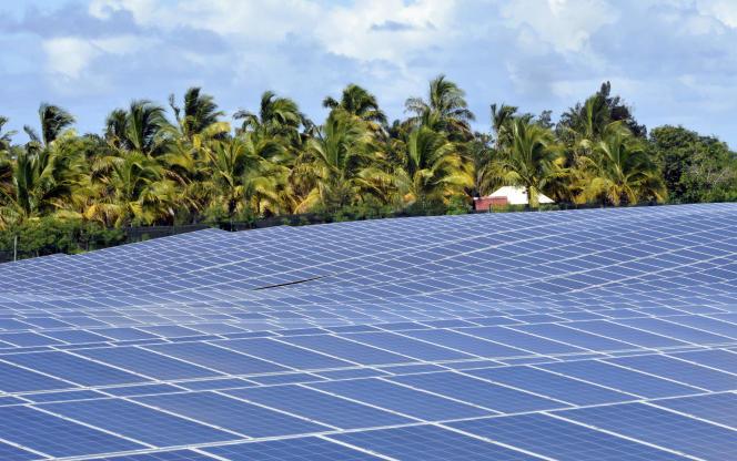 Centrale solaire à Saint-Pierre, sur l'île de La Réunion, en 2010.