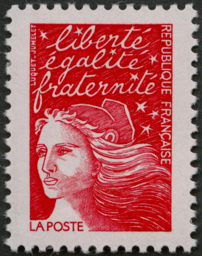 « Marianne» de Luquet (dessin d'Eve Luquet, gravure de Claude Jumelet), en service entre 1997 et 2005.
