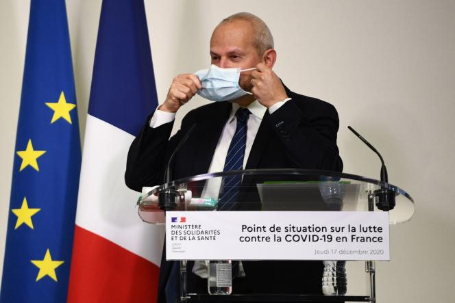 Le directeur général de la santé, Jérôme Salomon, lors de son point presse sur la situation épidémique en France, le 17 décembre.