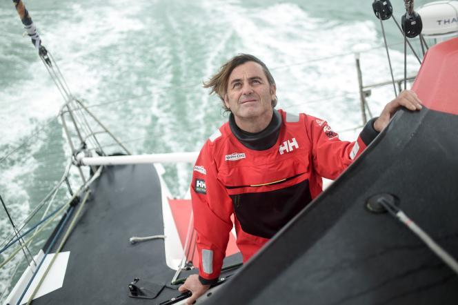 Le capitaine français Yannick Pestovan dans son monologue «Matre-Coke IV» le 7 octobre 2020, depuis La Rochelle, à quelques semaines du lancement du Wendy Globe.