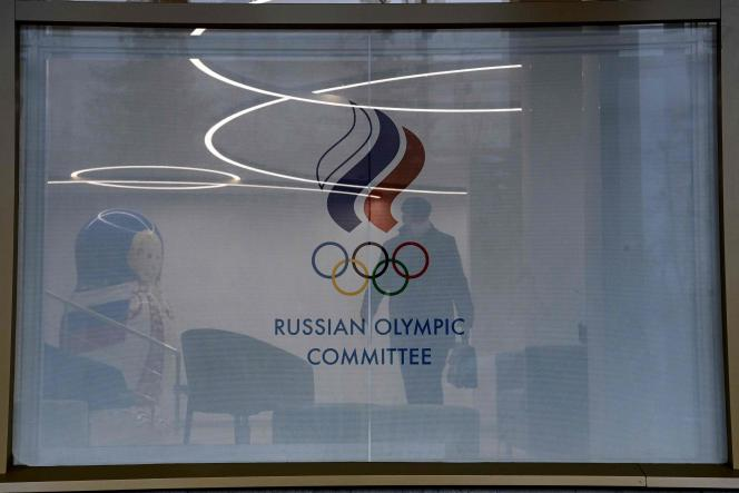 Devant le comité olympique russe à Moscou, le 17 décembre.