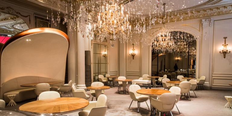 restaurant gastronomique du Plaza avec Alain Ducasse chef des cuisines