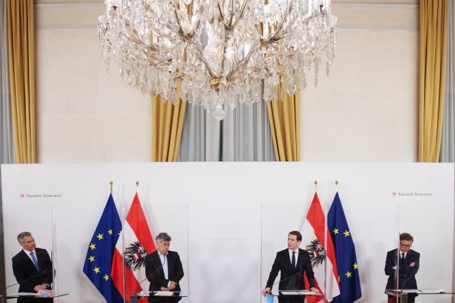 Lors d'une conférence de presse sur les nouvelles restrictions sanitaires, à Vienne, le 18 décembre.