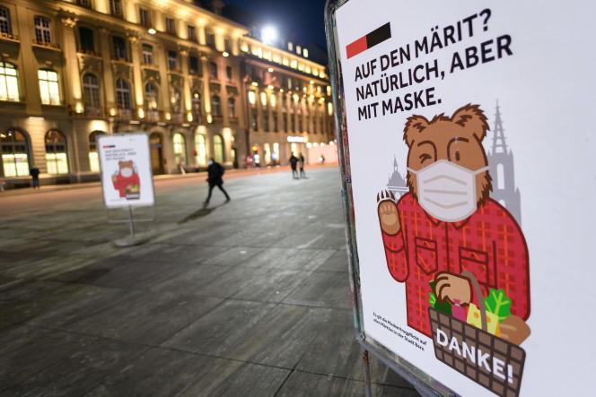 A Berne (Suisse), le 18 décembre.