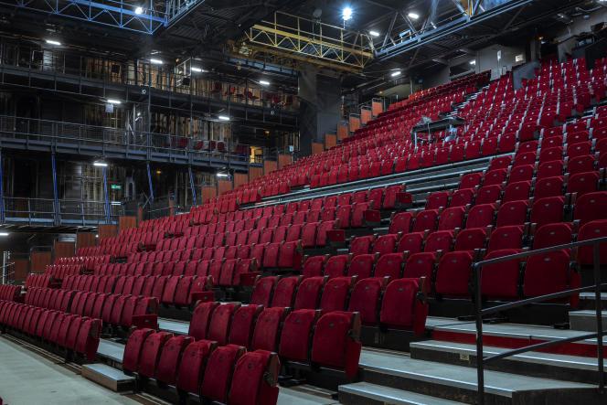 La salle Jean-Vilar, au Théâtre national de Chaillot, à Paris, le 17 décembre.