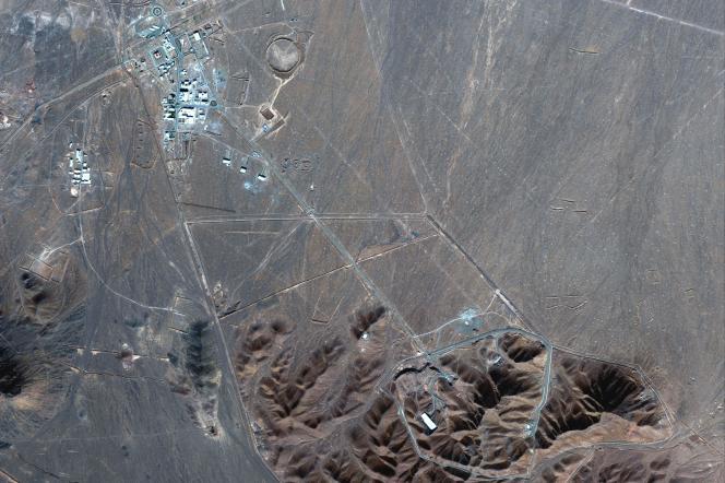 Photo satellite du 4 novembre 2020 qui montre le site nucléaire iranien de Fordo.