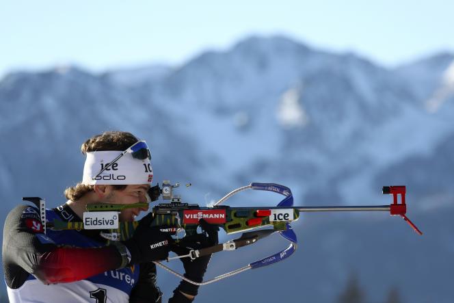 Laegreid manque rarement sa cible : le Norvégien a« blanchi» 113 des 120 cibles depuis le début de la saison de biathlon.