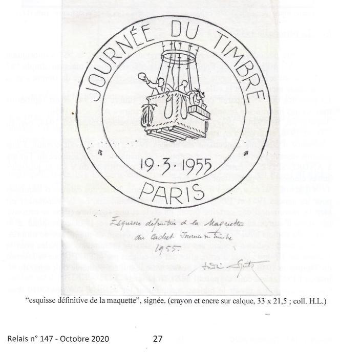 Une oblitération dessinée par André Spitz.