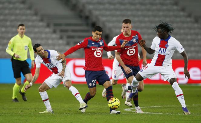 Lille et le PSG sur un score nul et vierge dimanche 20 décembre au stade Pierre-Mauroy de Villeneuve-d'Ascq.