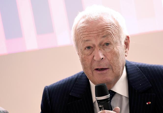 Le patron de l'Institut Mérieux, Alain Mérieux, à Veyrier-du-Lac (Haute-Savoie), en septembre 2017.