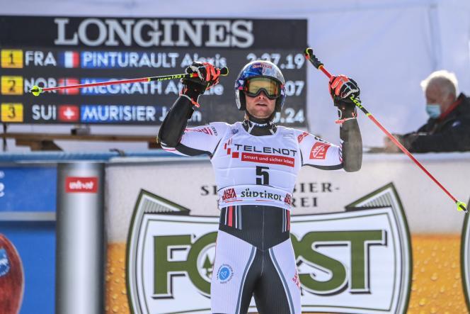 Alexis Pinturault, victorieux de son premier géant de la saison à Alta Badia (Italie), dimanche 20 décembre.