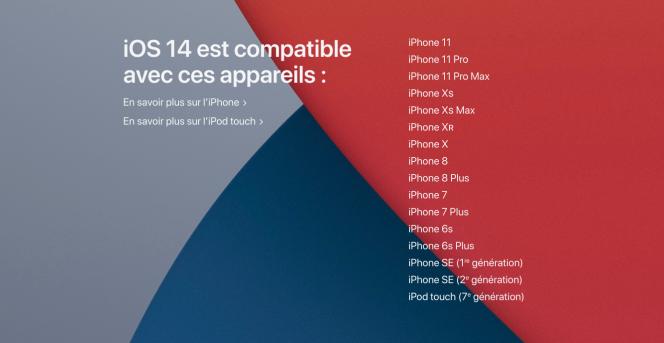 Extrait de la présentation Apple des fonctionnalités d'iOS 14.